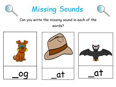 Missing Sounds Worksheets
