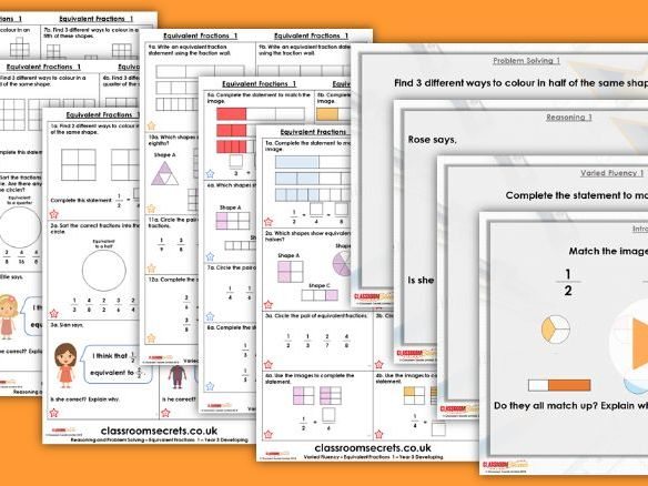FREE Year 3 Equivalent Fractions Summer Block 1 Maths Lesson Pack