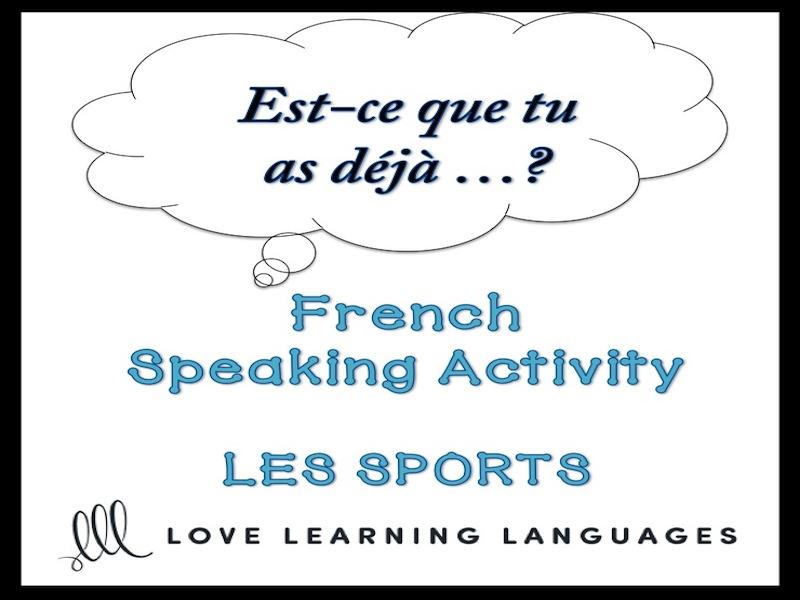 SPORTS French Speaking Activity: Est-ce que tu as déjà…