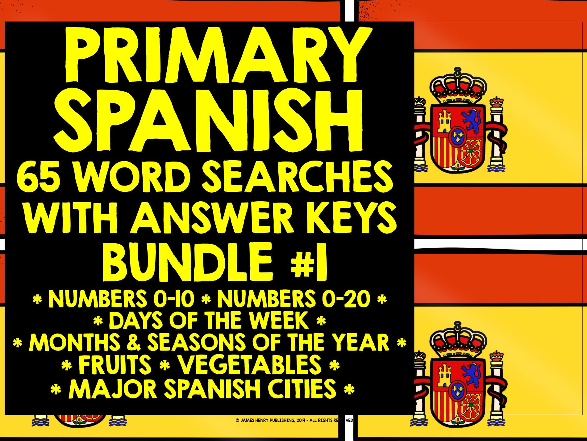 PRIMARY SPANISH WORD SEARCHES BUNDLE #1