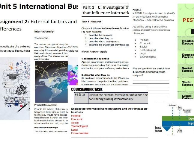 BTEC National Business Level 3 Unit 5: International Business- Assignment 2 Student Booklet