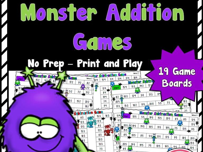 Monster Addition Games