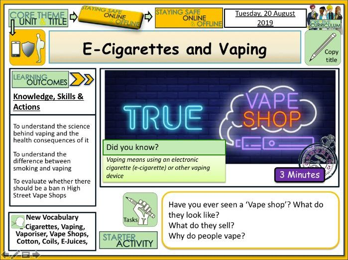 E-Cigs and Vaping - Drugs Education