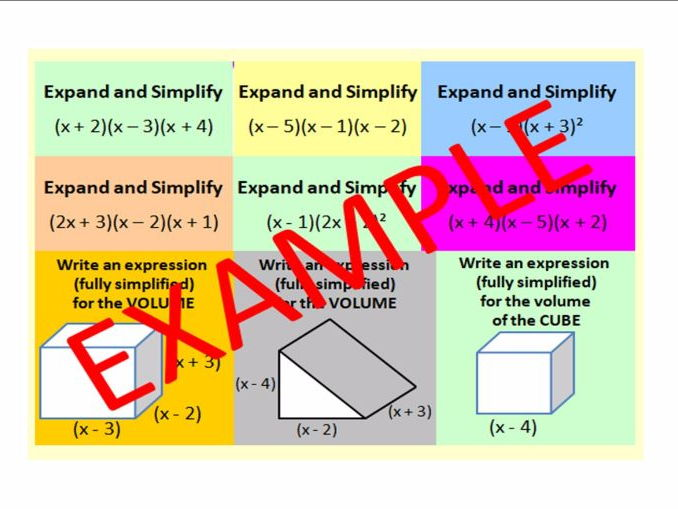 Expanding Triple Brackets (including Problem Solving GCSE questions)