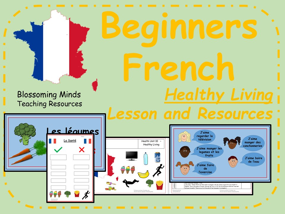 French Lesson and Resources - Healthy Living - KS2