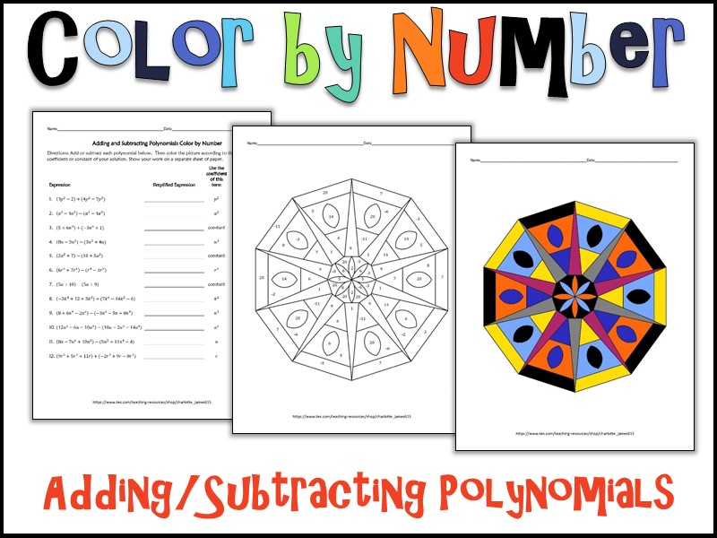 adding and subtracting polynomials worksheets Termolak – Subtracting Polynomials Worksheet