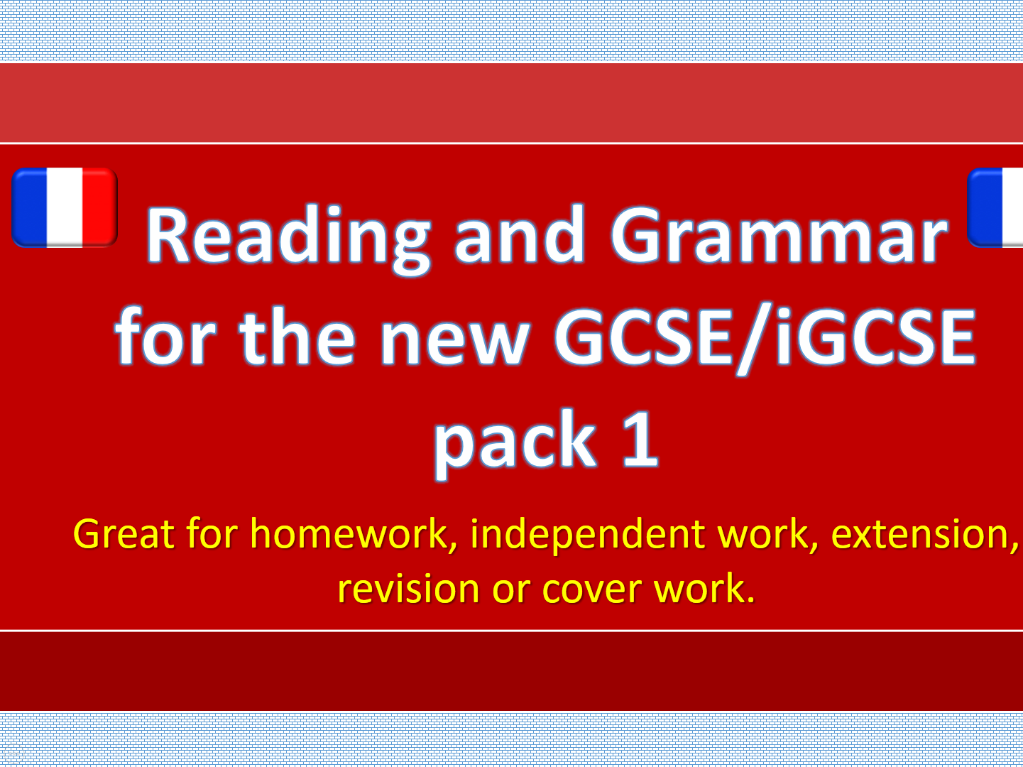 NEW GCSE / iGCSE Reading and Grammar French bundle
