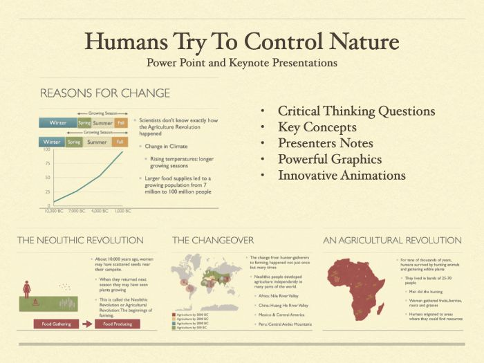 Humans Try To Control Nature History Presentation