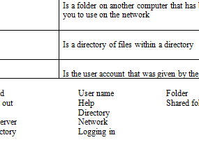BASIC COMPUTER TERMS WORKSHEET