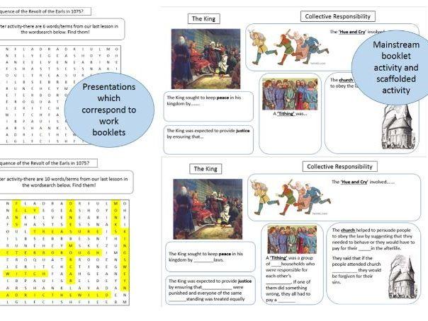 Complete Unit of work for Edexcel GCSE unit Anglo-Saxon & Normans c.1060-1088