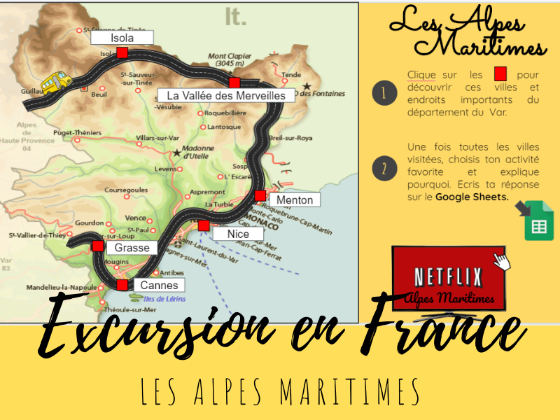 Free French Virtual Field Trip - les Alpes Maritimes