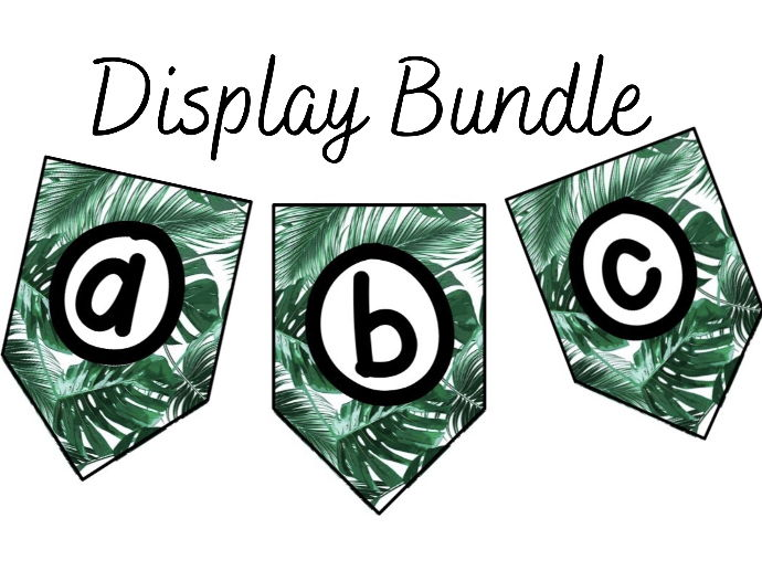 Tropical Classroom Display Bundle
