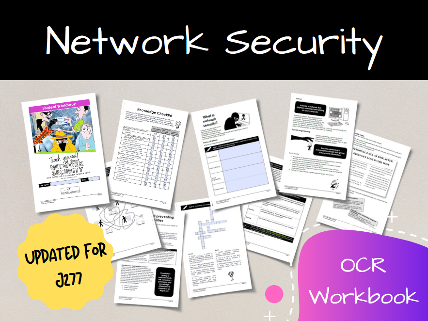 Network Security OCR GCSE Computer Science Workbook (J277)