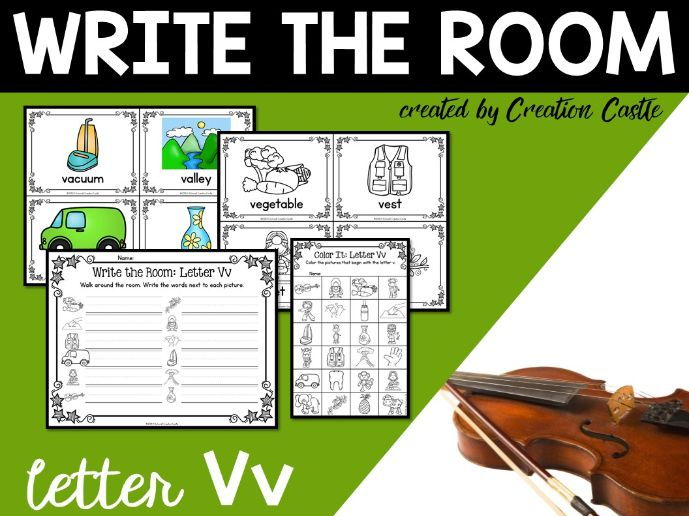 Alphabet Write the Room - Letter V