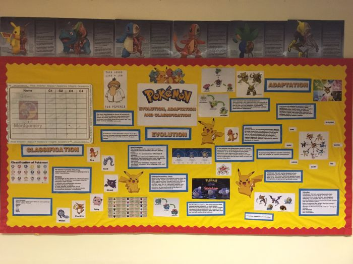 Pokemon Go! Evolution, Adaption and Classification Classroom Display