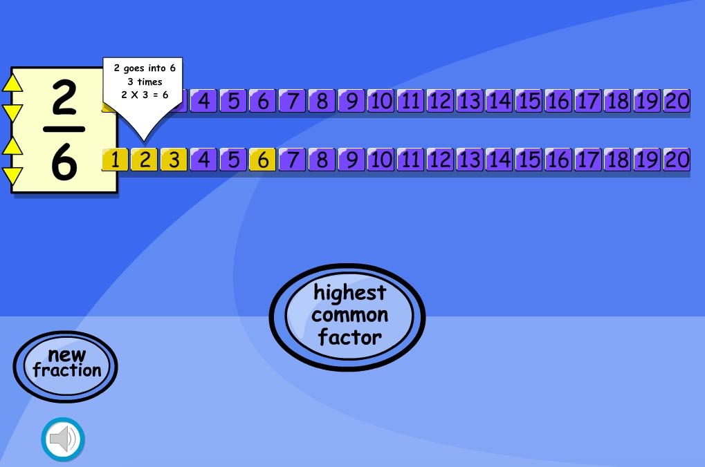 Simplifying Fractions Interactive Teaching Tool - KS2 Number