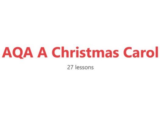 AQA A Christmas Carol Scheme of Work