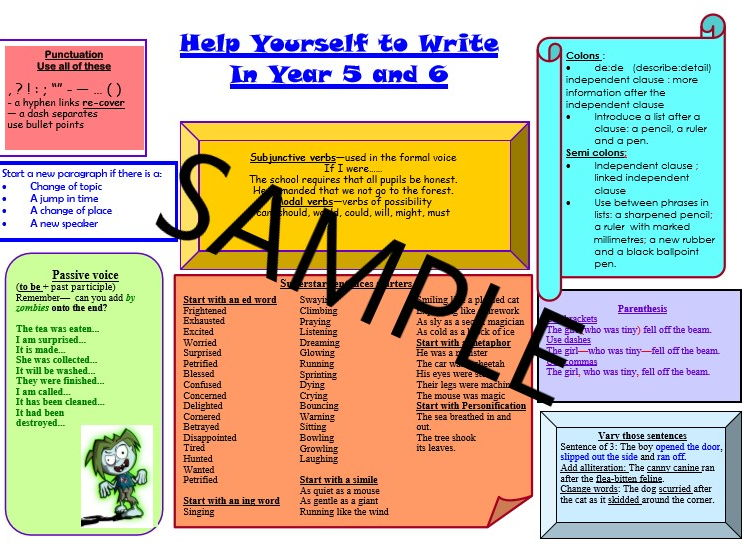 Help Yourself to Write Year 5 and 6   2017-2018