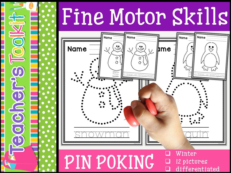 Motor Skills: Pin Poking Winter