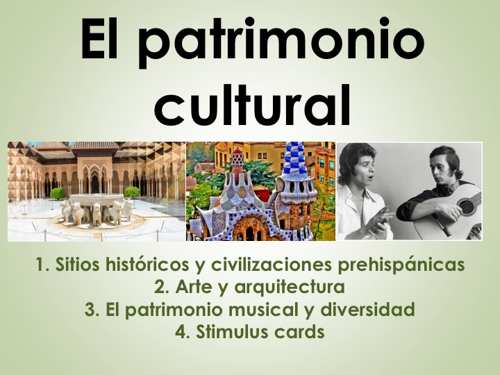 AQA New AS/A Level Spanish El patrimonio cultural with stimulus cards