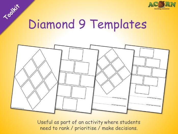 Diamond 9 Templates