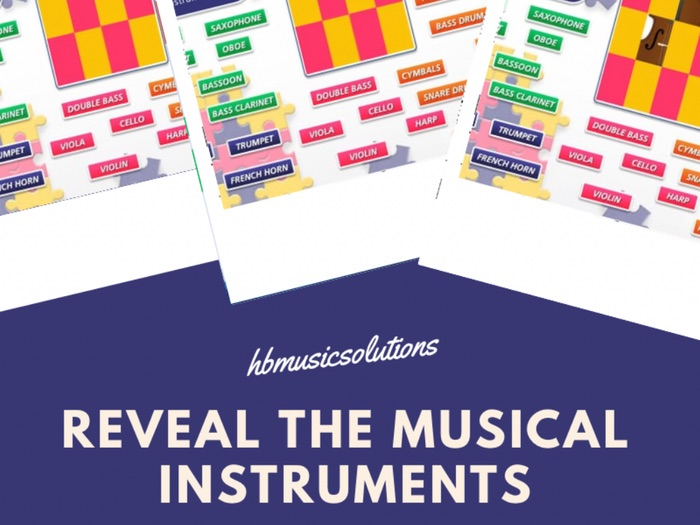 Reveal the Musical Instruments Interactive Game