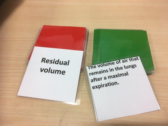 AQA new spec GCSE PE Cardio and Respiratory Match up cards