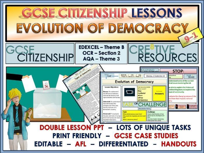 Lessons- Classical Democracy and Representative Democracy - GCSE Citizenship 9-1