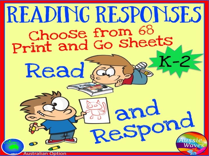 Reading Responses for Books Independent Activities for Literacy Centres Early Grades