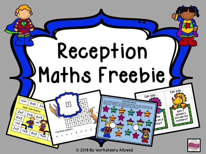 Reception Maths Number Resources Freebie *UPDATED*