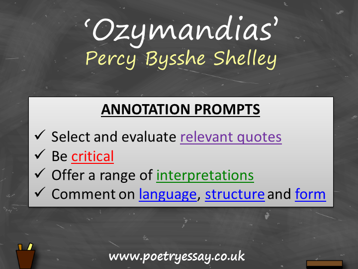 Percy Bysshe Shelley – 'Ozymandias' – Annotation