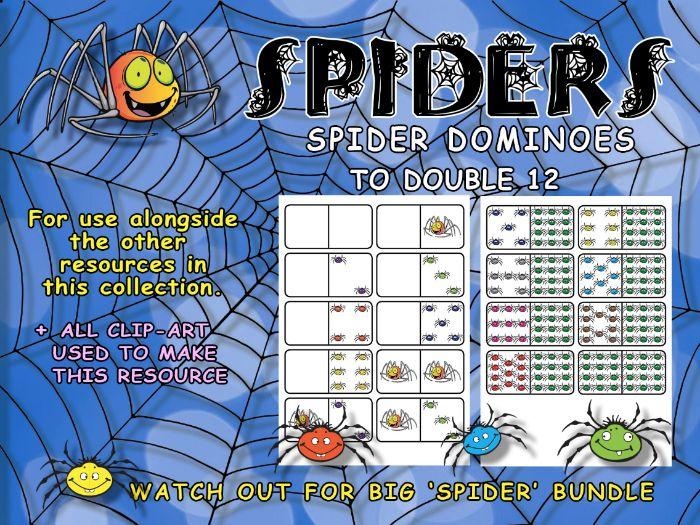 SPIDERS - MATHEMATICS - SET OF DOMINOES 0-0 to 12-12