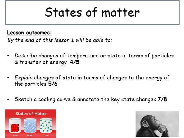 KS4, BONDING & STRUCTURE - States of Matter (Teacher powerpoint + student worksheet)