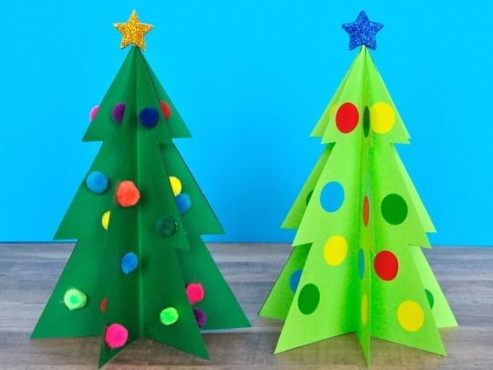 3-Dimensional Christmas Tree - Art Activity