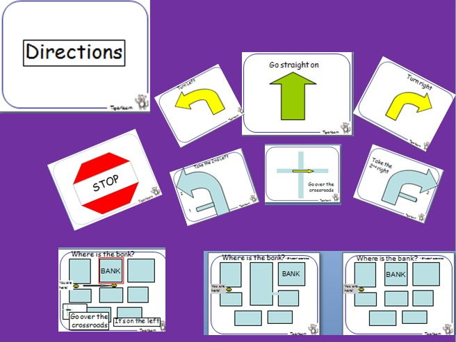 Directions PPT and Communicative activity