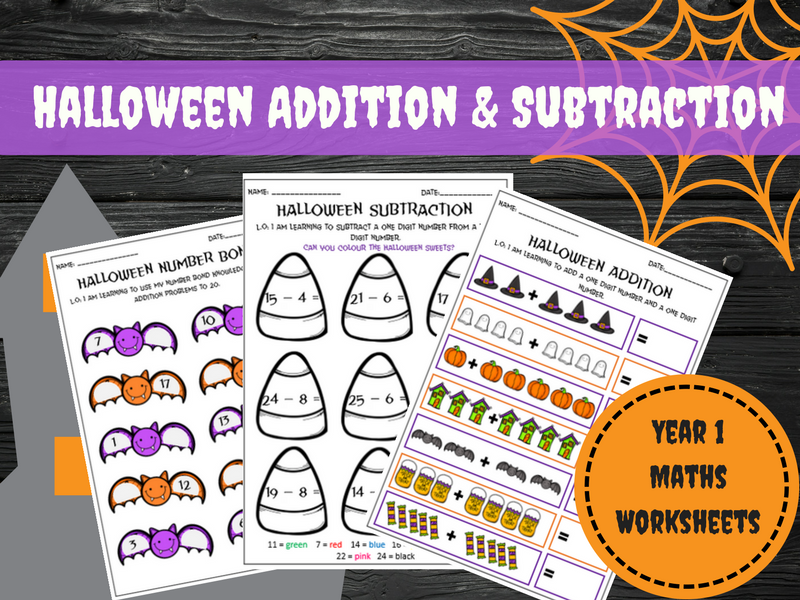 Halloween Addition and Subtraction: Year 1