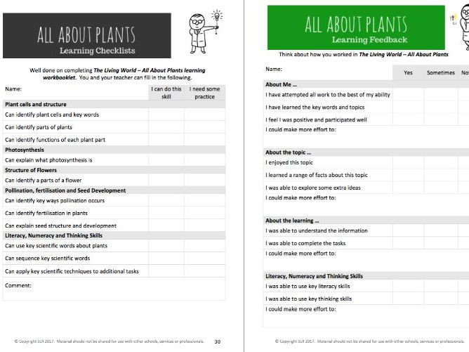 ALL ABOUT PLANTS - Science workbooklet