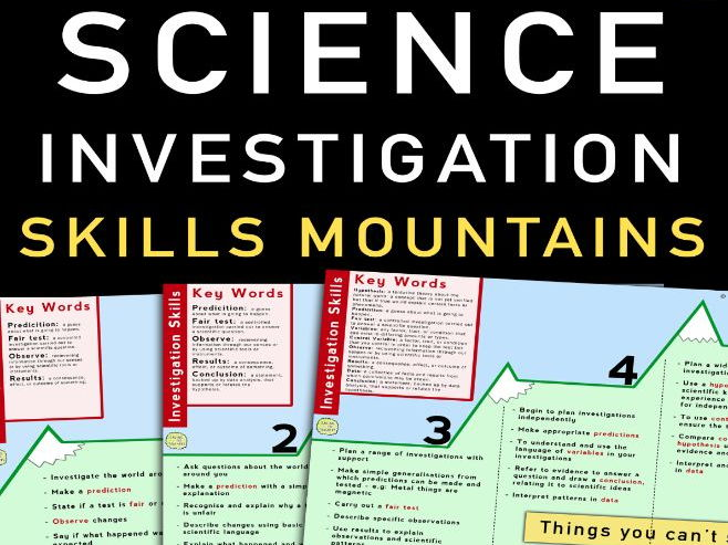 Science Investigation Skills Mountains: Years 1 - 8
