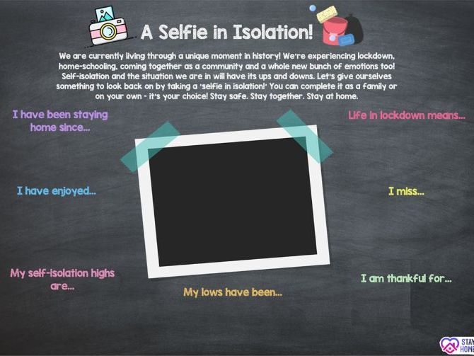 A Selfie in Isolation