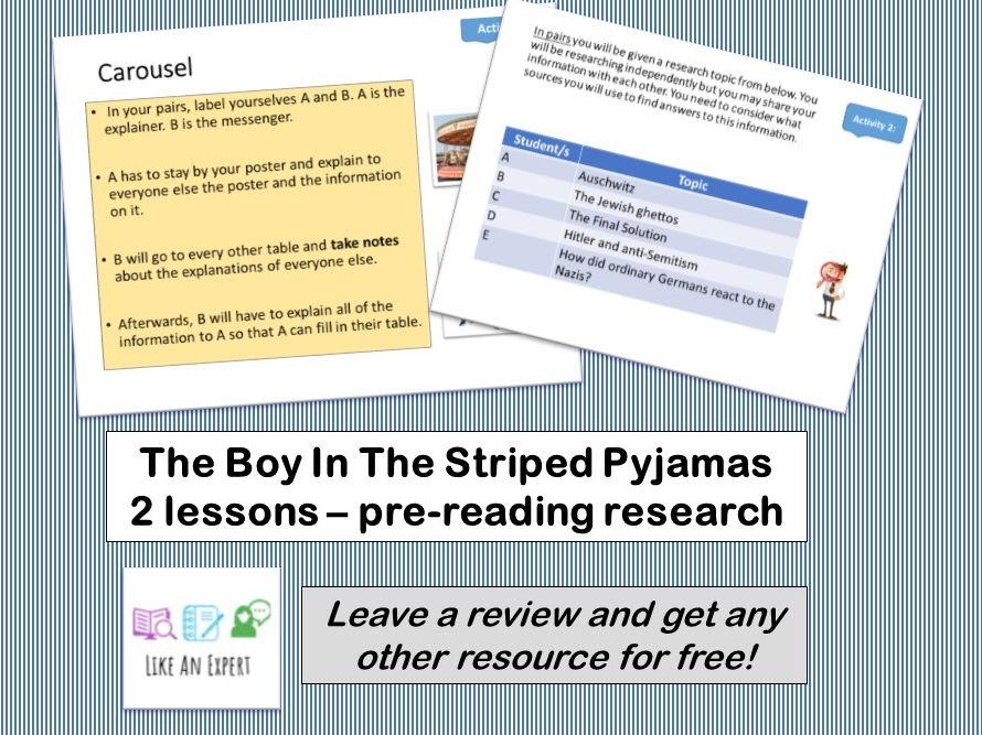 Boy In The Striped Pyjamas -Pre-reading