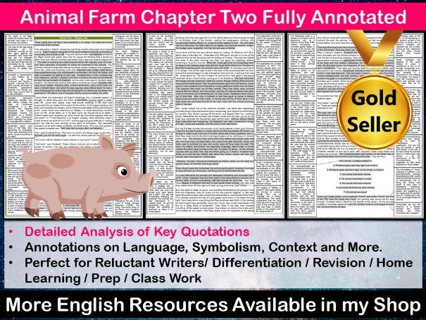 Animal Farm Chapter 2 Fully Annotated