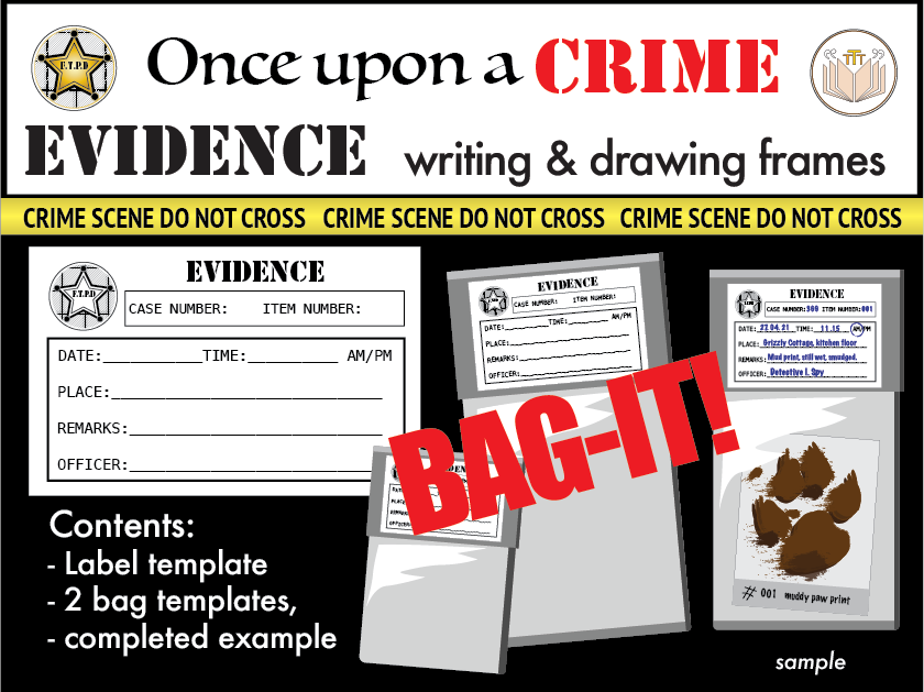 Evidence Label and Bag Templates