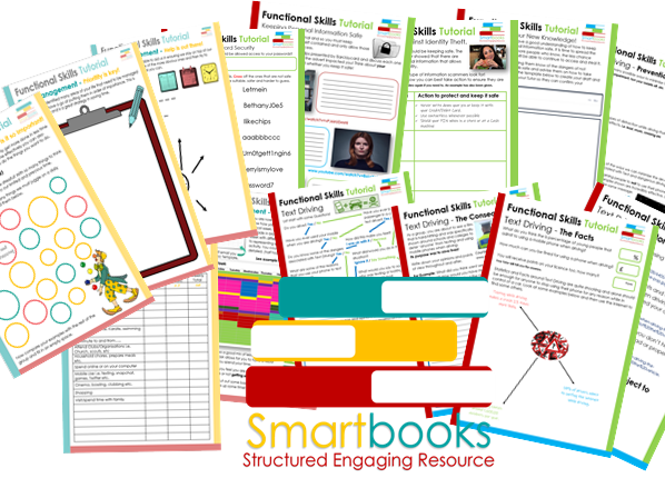 Functional Skills Tutorial / English BUNDLE - Time Management - Keeping Personal Info Safe - Text Driving