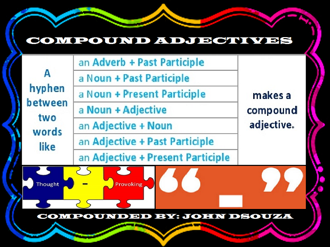 COMPOUND ADJECTIVES: LESSON AND RESOURCES