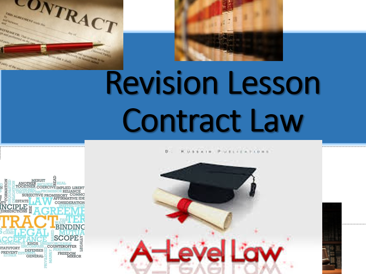 A-Level Law: Contract Law-(Formation)-Revision Poster
