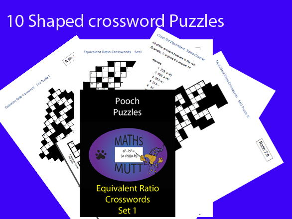 Pooch Puzzles : Equivalent Ratio Crosswords    Set1
