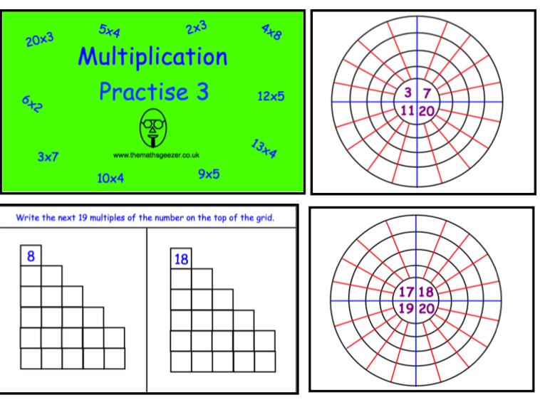 Multiplication Practise 3