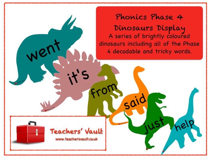 Phonics Phase 4 Dinosaurs Display