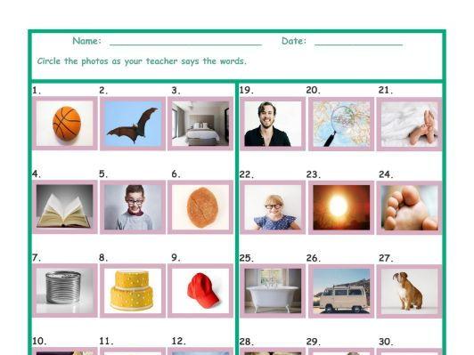 Common Nouns Kindergarten Worksheet