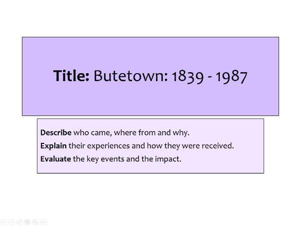 OCR History A GCSE - Butetown